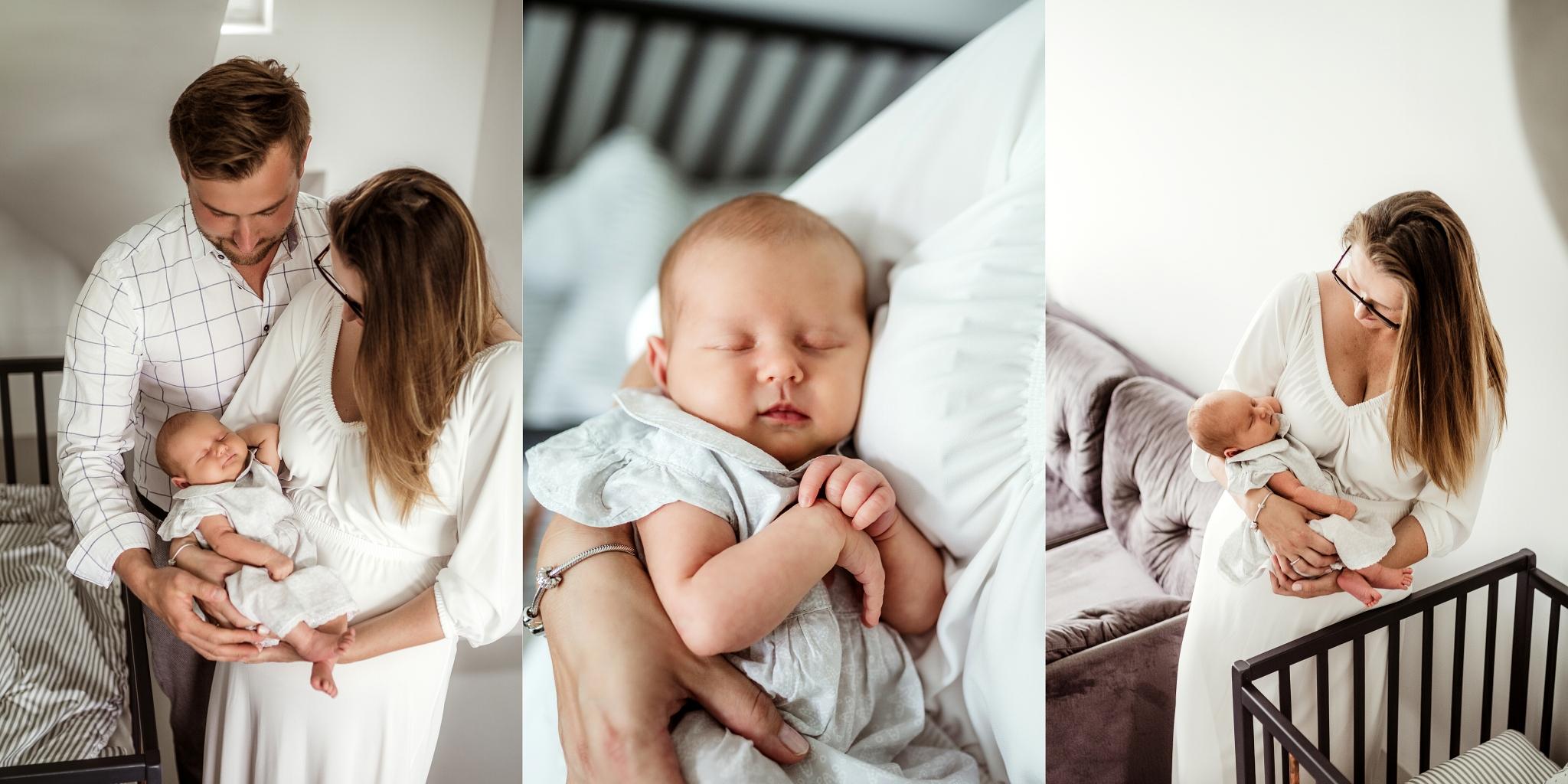 Sesja z noworodkiem w domu, sesja domowa naturalna Szczecin