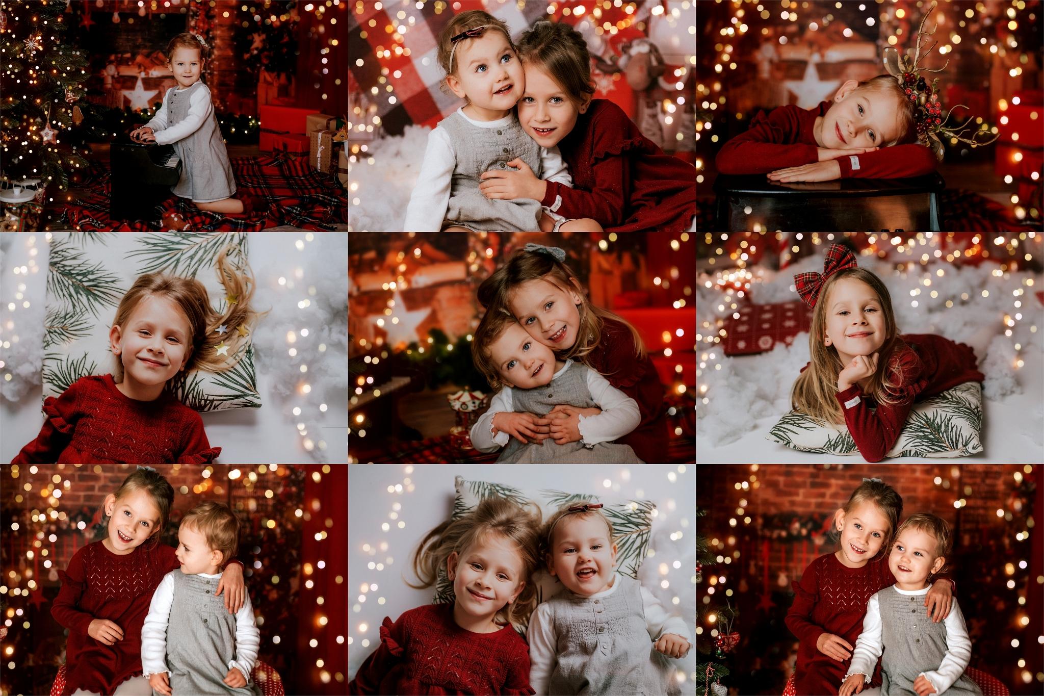Siostry, sesja zimowa, sesja świąteczna Szczecin
