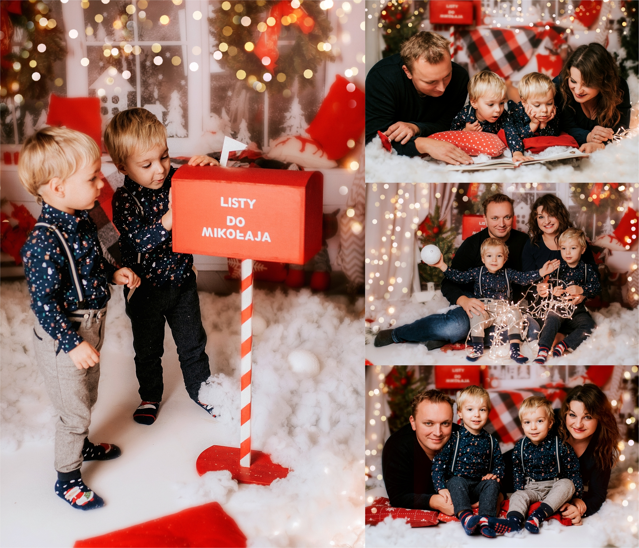 Mikołaj, list do Mikołaja, sesja zdjęciowa na boże narodzenie
