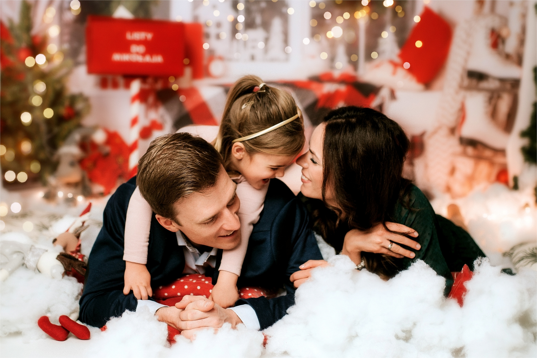Portret rodzinny sesja na święta, mini sesja Szczecin