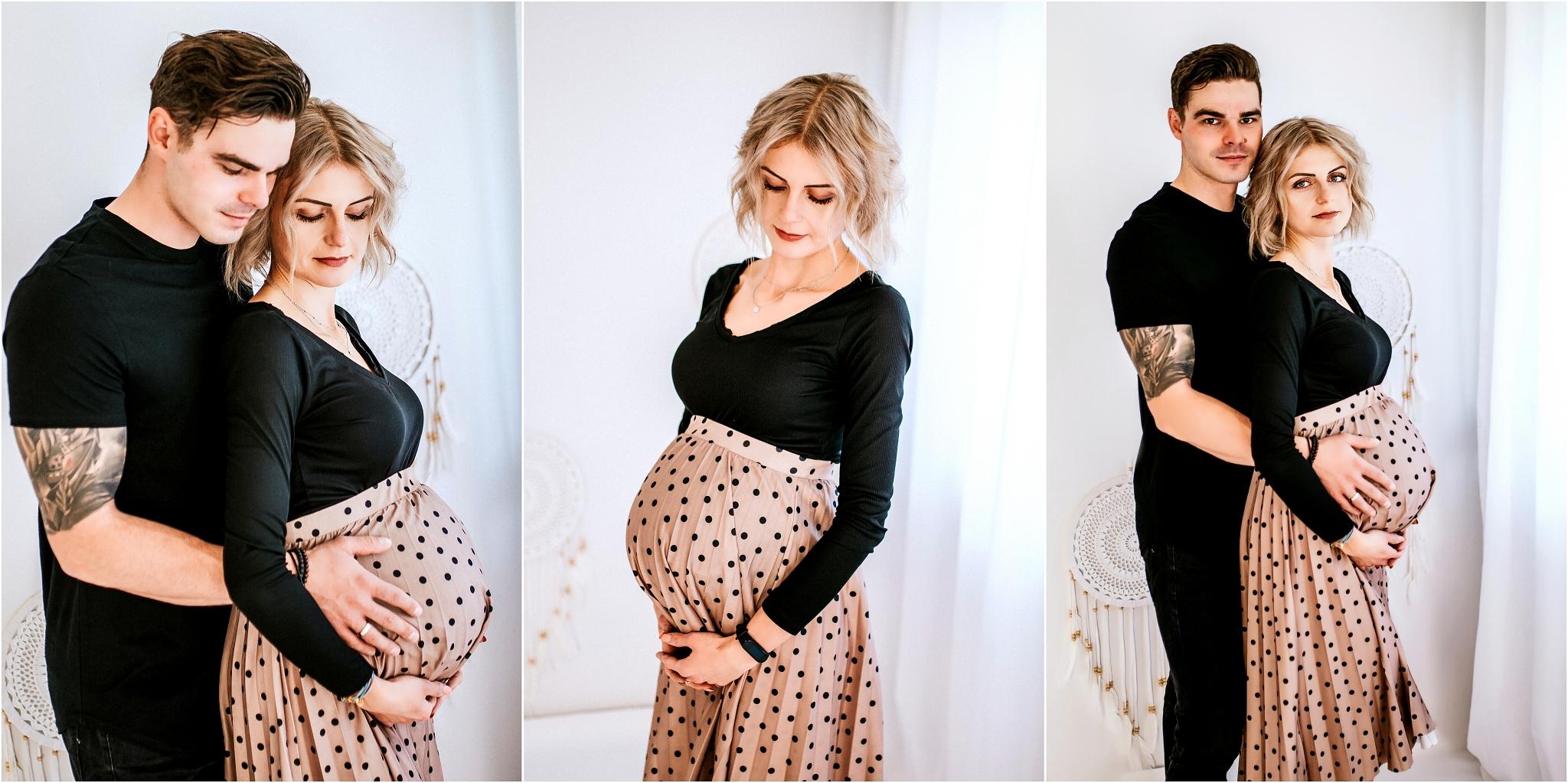 Studyjna sesja ciążowa dla pary Szczecin
