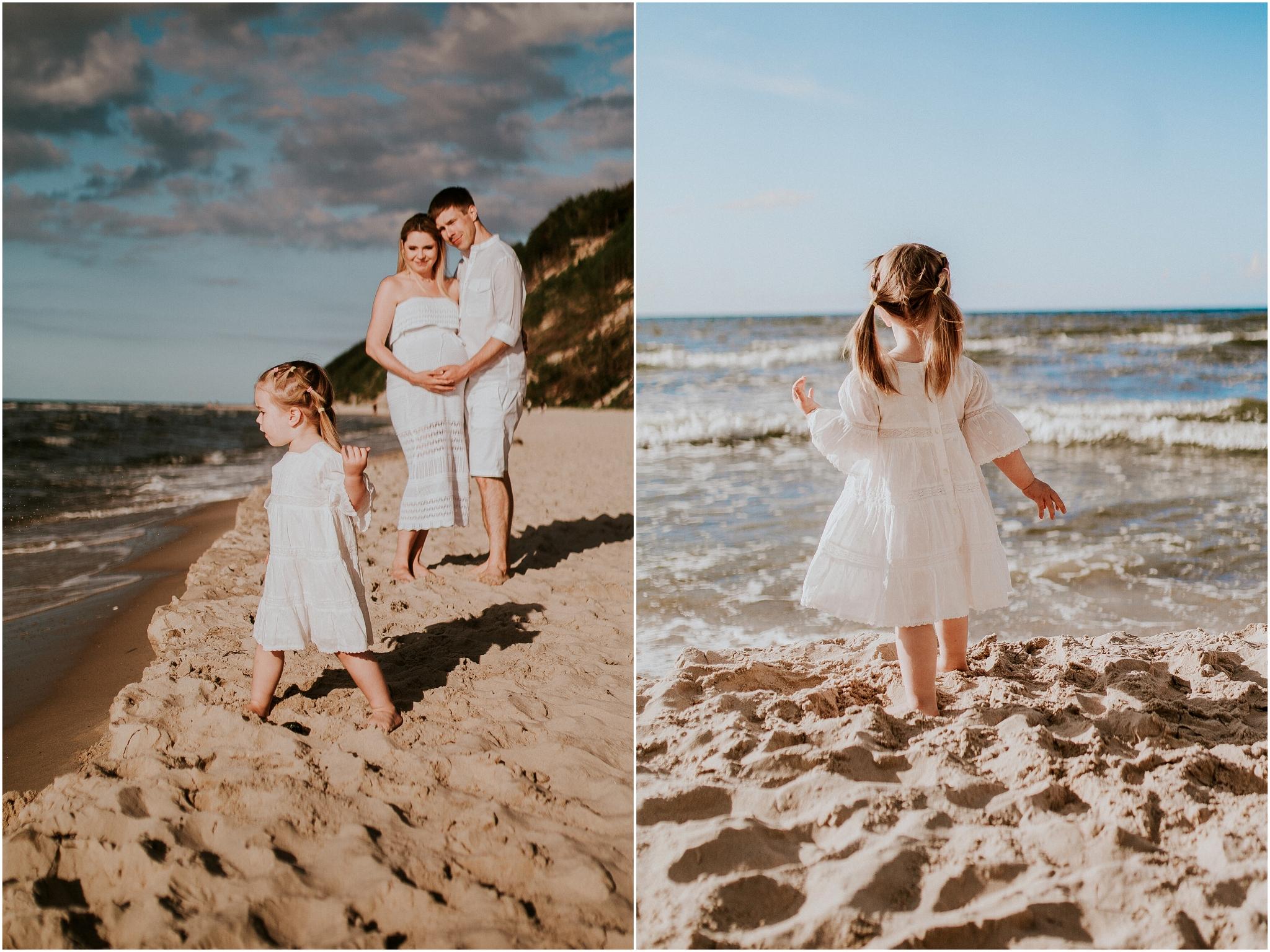 Bałtyk, polskie morze sesja zdjęciowa rodzinna