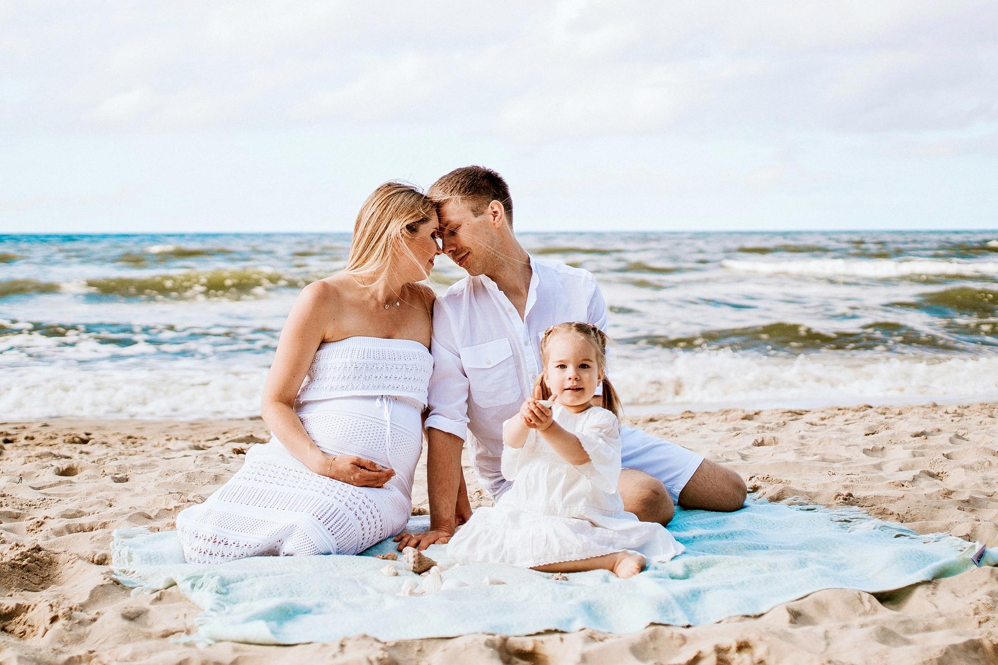 Rodzina, sesja fotograficzna nad Bałtykiem