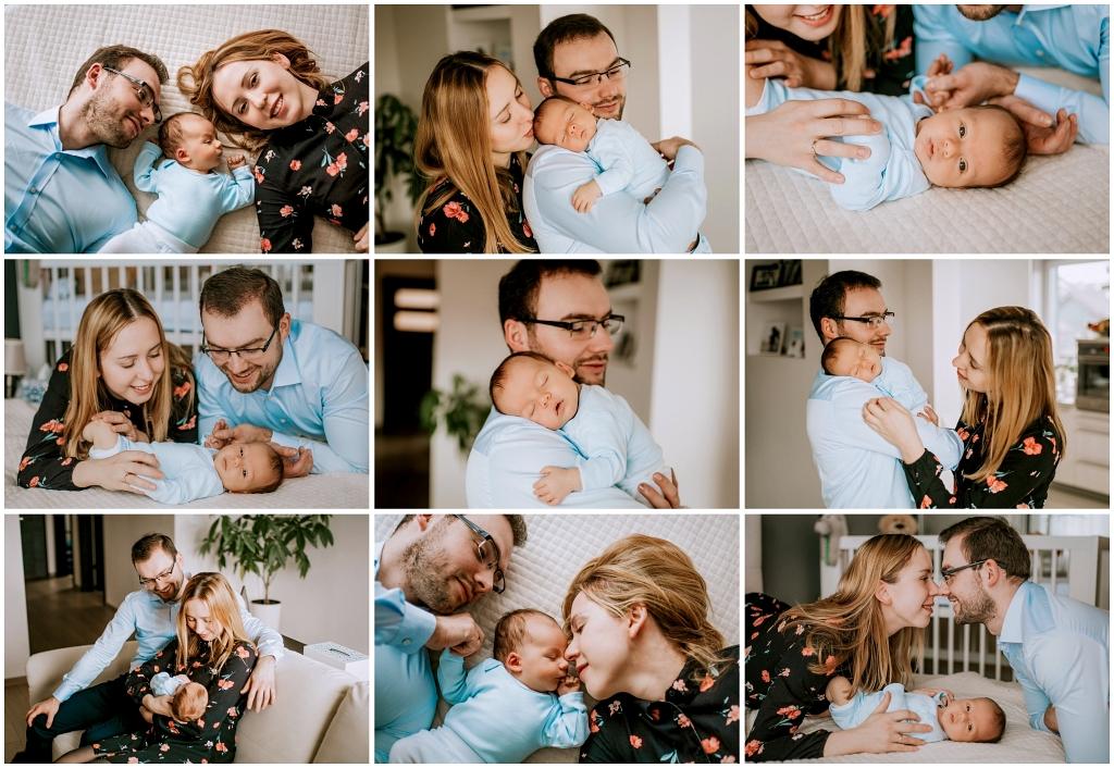 Sesja noworodkowa w stylu lifestyle sesja domowa, sesja w domu, fotografia rodzinna, noworodek