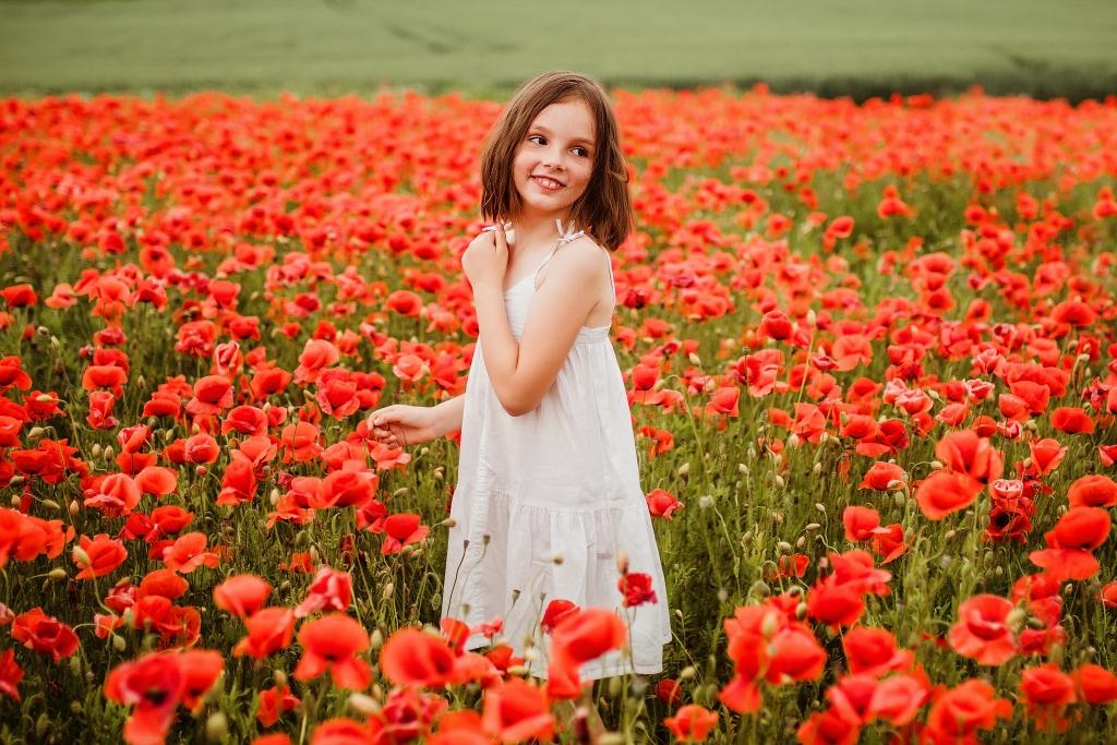 Polne kwiaty, pole maków w Szczecinie, fotografia Szczecin plener