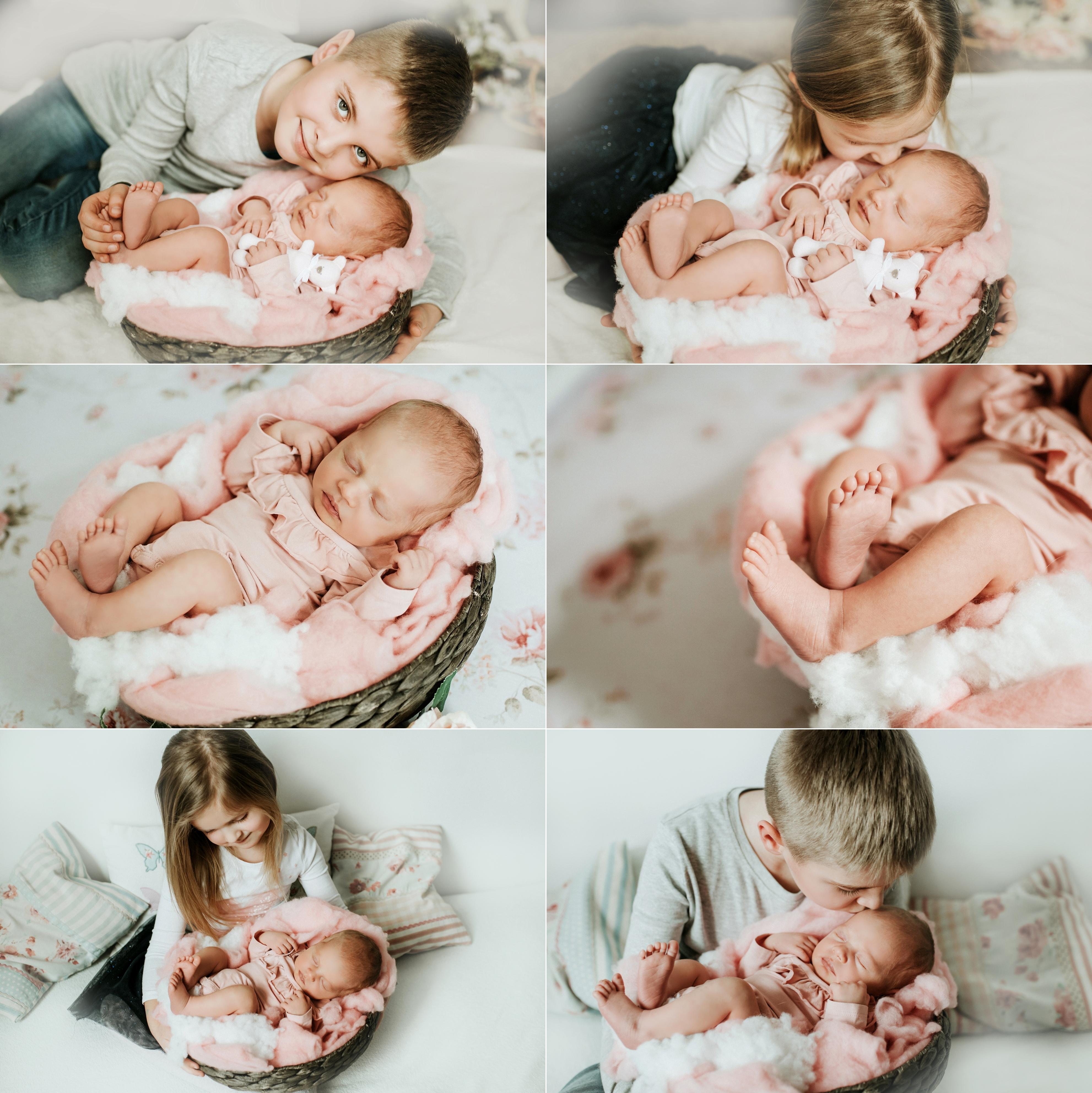 Noworodkowa sesja rodzinna w domu